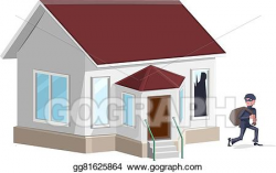 Vector Art - Male thief in mask robbed house. Clipart Drawing ...