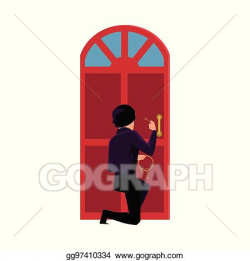 Vector Stock - Thief, burglar trying to break in house by ...