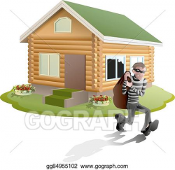 Vector Art - Thief robbed house. man robber. EPS clipart gg84955102 ...