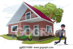 Vector Art - Thief robbed country house. EPS clipart gg82514089 ...
