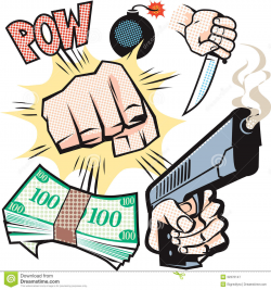 Violence clipart crime - Pencil and in color violence clipart crime