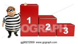 Drawing - Thief with 123 level. Clipart Drawing gg90272959 - GoGraph
