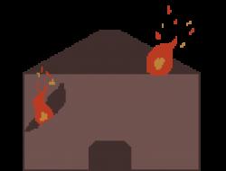 background burning house | Pixel Art Maker