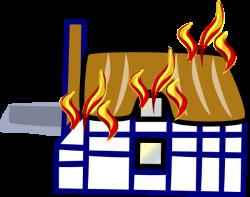 Burning House Clipart