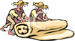 Clipart Picture of Two Little Mexican Men Rolling a Burrito ...