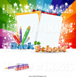 Clip Art of a Back to School Background with Ruled Notebook Paper ...