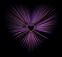Clipart - Heart Burst With Black Background