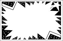 Border | Free Stock Photo | Illustration of a blank burst frame | # 8070