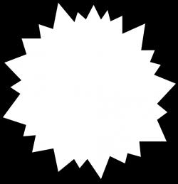 Burst | Free Stock Photo | Illustration of a blank white star burst ...