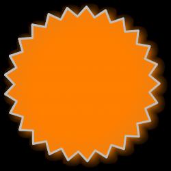 Starburst Orange Clip Art at Clker.com - vector clip art online ...