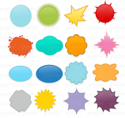 STARBURST CLIPART, Commercial Use, Personal Use, Digital image, Star ...