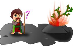 Moses And The Burning Bush Chibi Version clip art Free vector in ...