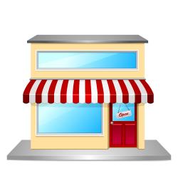 Shop clipart business building - Pencil and in color shop clipart ...