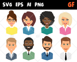 Business persons vector clipart, svg characters, vector people, eps ...