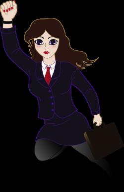 Super Business Woman - Free Clip Art