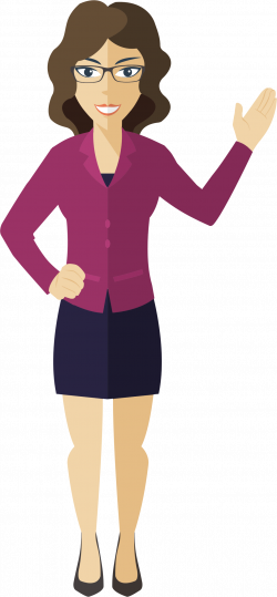 Flat Shaded Business Woman Icons PNG - Free PNG and Icons Downloads