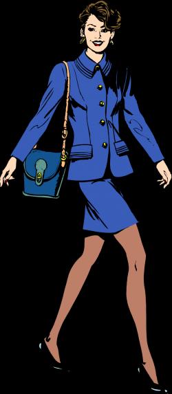 Public Domain Clip Art Image | Business woman | ID: 13548600017099 ...