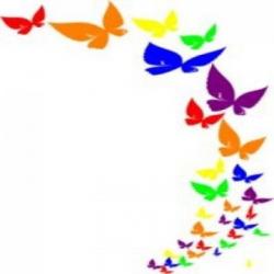 Butterflies Clipart Border | Free download best Butterflies ..