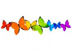 Rainbow butterflies border for Your design | BORDERS CLIPART ...