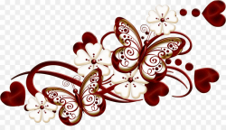Burgundy Color Clip art - butterfly decoration png download - 2381 ...