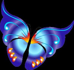 Cartoon Blue Butterfly Clipart | Gallery Yopriceville - High ...