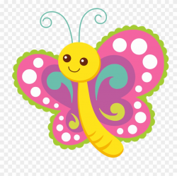 Clipart Cartoon Big Image - Cute Butterfly Clipart - Png ...