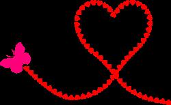 Clipart - Butterfly Hearts Trail | Hearts ♥ L♥ve | Pinterest ...