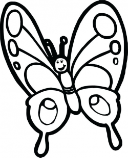 Cartoon Girl Butterfly Coloring Page Pages For Toddlers Cute ...