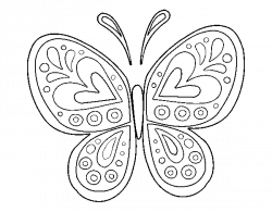 Desenho de Mandala borboleta para Pintar e Colorir on-line – Colorir ...