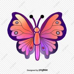 Gradual Butterfly Clipart, Clip Art, Cartoon, Hand Painted ...