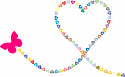 Butterfly Hearts Trail 2 Icons PNG - Free PNG and Icons Downloads