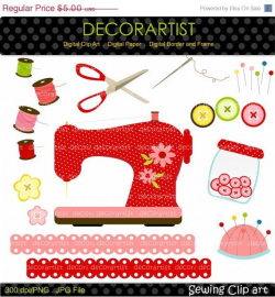 Sewing clipart, sewing machine clipart,craft clipart, instant ...