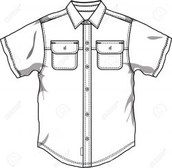 Shirt Outline Drawing at GetDrawings.com | Free for personal use ...