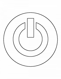 Power button pattern. Use the printable outline for crafts, creating ...