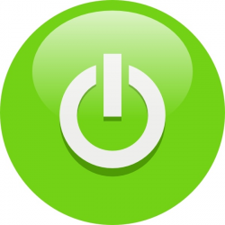 Green Power Button clip art Free vector in Open office drawing svg ...