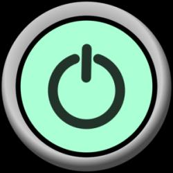 Power-button-on-green-background Clip Art at Clker.com - vector clip ...