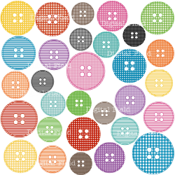 Patterned Buttons Clip Art | Clipart Panda - Free Clipart Images