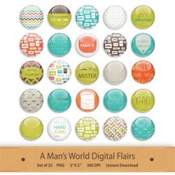 Digital Flair Button Scrapbooking Add On Clipart Scrapbook Elements ...