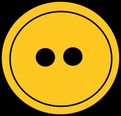 Yellow Button Clip Art - Yellow Button Image