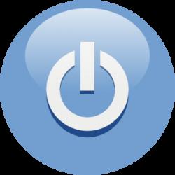 Blue Power Button Clip Art at Clker.com - vector clip art online ...