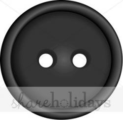 Black Button Clipart | Christmas Scrapbooking