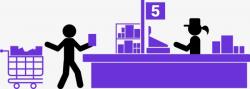 Supermarket Cashier, Supermarket, Checkout Counter, Cashier PNG and ...