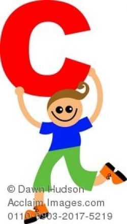 Clipart Illustration of a Child Holding a Letter of the Alphabet ...