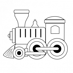 Black and White Train | Coloring Pages • Toy Train Engine • Toy ...