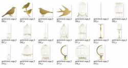 Gold Birdcage Clipart, bird cage clip art, digital instant download ...