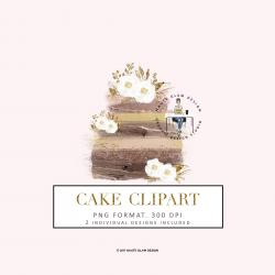 Rose Gold Cake Clip Art, Abstract Cake Design, Bakery Clipart ...