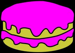 Pink Cake No Candles Clip Art at Clker.com - vector clip art online ...