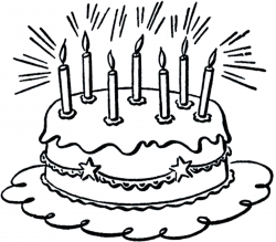 Cake Clipart Black And White - cilpart