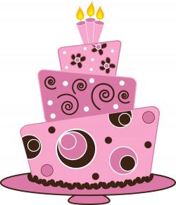 Pink Birthday Cake Clip Art | animehana.com