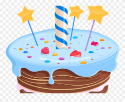 Birthday Cake Clipart Fancy - First Birthday Cake Png ...